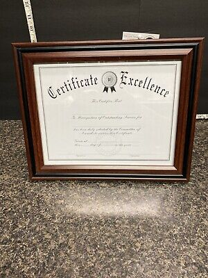 "Table Or Wall Document Frame- 13"" x 10.50"" Frame Size - Holds 11"" x 8.50""."