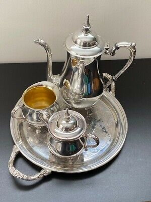 Vintage Sheridan Coffee / Tea Service - Silver Plate on Copper - Excellent