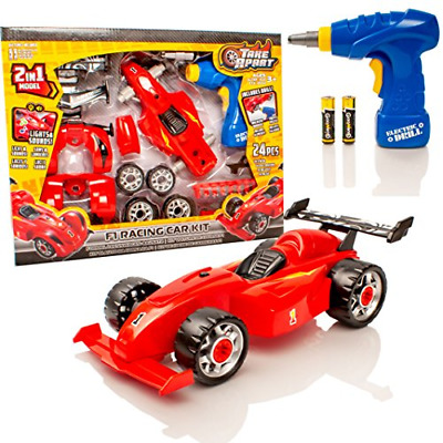Take Apart Construction Toy Kit - 2 in 1 F1 Toy Racing Car - Build Your Own Car
