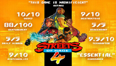 Streets of Rage 4 Region Free Steam Multi Activation GLOBAL PC