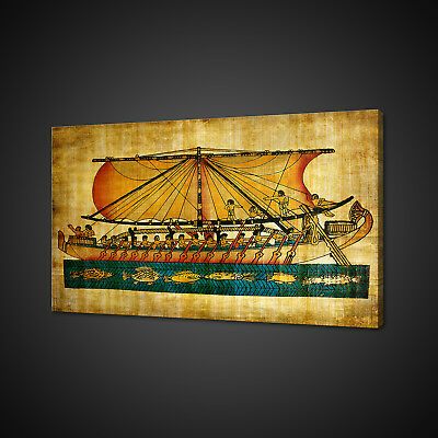 Old Egyptian Ancient Papyrus Photo Canvas Print Wall Art Picture Many Sizes