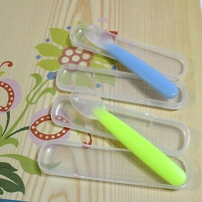 Glasslock Jr Soft Silicone Baby Spoons Lot