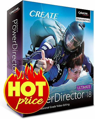 CyberLink PowerDirector Ultimate 18 🔥 Genuine Life time License | FAST DELIVERY