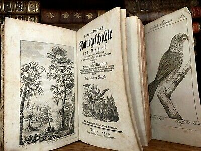 1792 NATURAL HISTORY OF BIRDS with 74 folded Engravings of Parrots