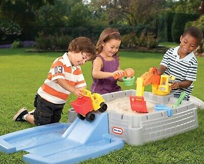 Table Sandbox Water Box Cover Activity Outdoor Activity Play Sand Toys Kids New