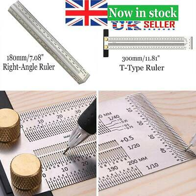 1X Ultra Precision Marking Ruler Scale Ruler T-type Hole Stainless Scribing UK