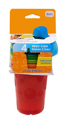 Toss Spill-Proof Sippy Cups,Durable Sippy Cups with Interchangeable Lids