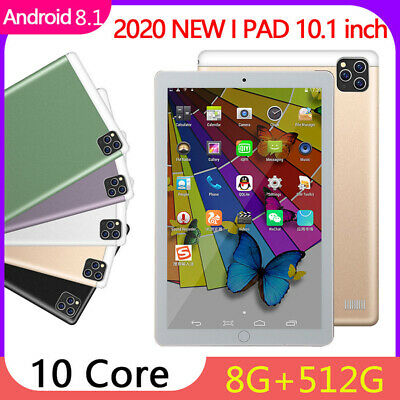 """10"""" Inch Tablet PC HD 6+512G Ten Core WIFI Dual Camera GPS Phablet Android 8.0"""