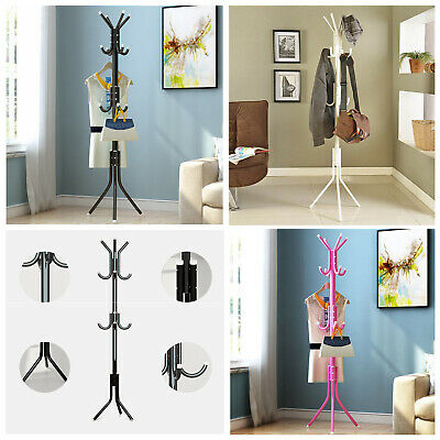 Coat Stand Garment Rack Metal Coat Jacket Umbrella Hanger Standing Hook Rack Uk