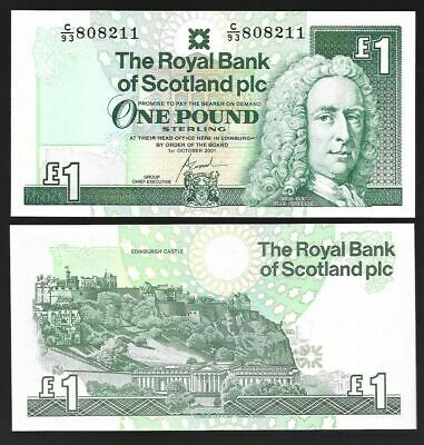 SCOTLAND 1 POUND 2000 ROYAL BANK OF SCOTLAND P 351e UNC