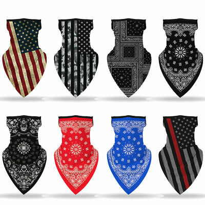 Unisex Outdoor Sport Bandana Triangle Scarf Neck Tube Ear Hanging Face Cover New