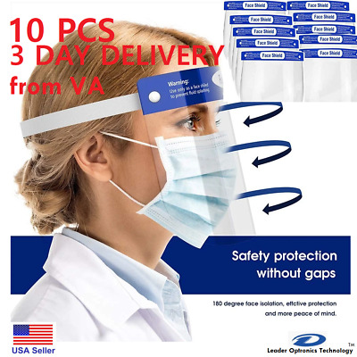 10 pcs Safety Full Face Shield 3 days delivery from Virginia