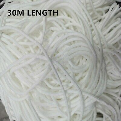 30M Length  Elastic Band Cord Strap String Thread Sewing Craft 3mm