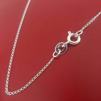 Genuine Solid 925 Sterling Silver Curb Chain Necklace