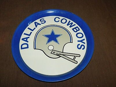 "Vintage Football  14"" Across Dallas Cowboys  Metal Serving Tray"