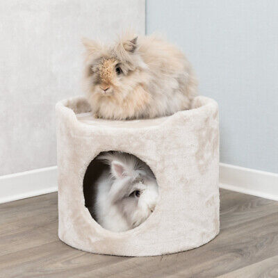 Trixie Cuddle Cave Tower Hide Away Cosy Bed Beigh - Rabbits & Guinea Pig House