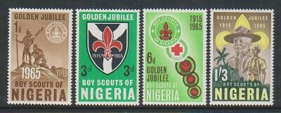 Nigeria - 1965, Nigerian Scout Movement set - MNH - SG 157/60