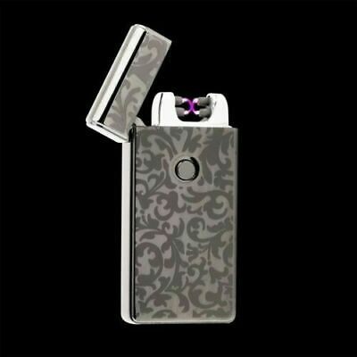 Floral Dual Arc Electric USB Lighter Rechargeable Flameless Windproof Plasma
