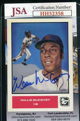 Willie McCovey 1984 Trade Card JSA Coa Autograph Authentic Hand Signed