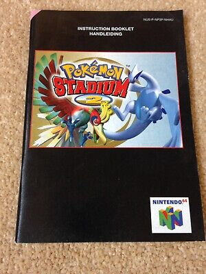 Pokemon Stadium 2 Instruction Booklet Only for Nintendo 64. Good Clean Condition