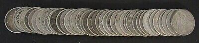 Lot of 40 Germany 1 Marks all .900 Silver