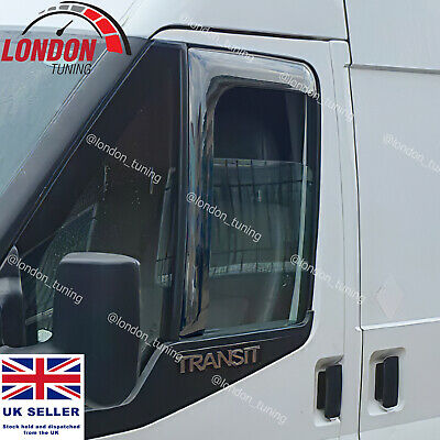 For Ford Transit Mk6 Mk7 Wind Rain Deflectors L Shape Pair (2000-2013)