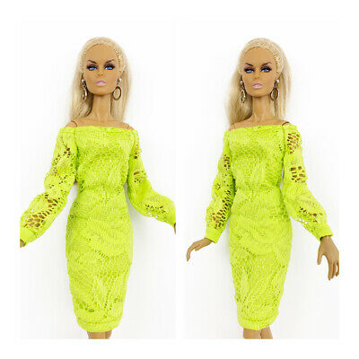 Fashion Royalty Handmade Green Midi Dress Integrity Toys Color Infusion Clothes