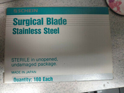 Surgical blades stainless steel 100 in box