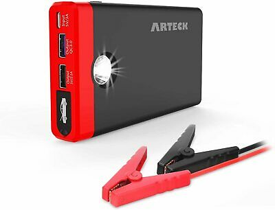 Arteck Car Jump Starter Auto Battery Charger and 12000mAh Quick Charge 3.0