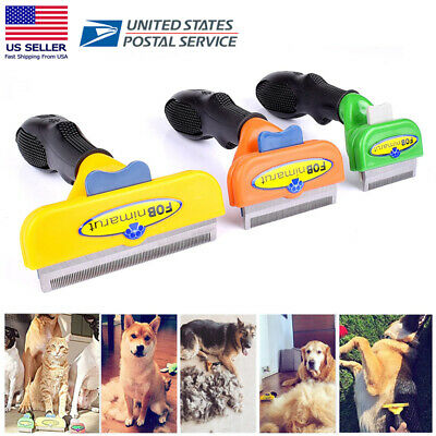 Pet Brush Comb For Dog Cat Grooming Hair Fur Shedding Trimmer Remover Tool S/M/L