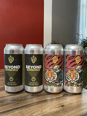 "Monkish Brewing, 5/20, 4 ""Empty"" Cans, Trillium, Tree House, Other Half"