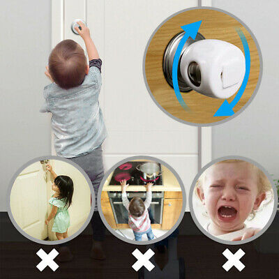 Children Baby Safety Lock Door Knob Cover Child Proof Safe Kids Toddler Guard AU