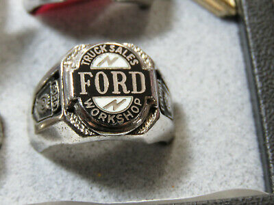 Ford Truck Sales Workshop Award Ring Sterling 1957-1960