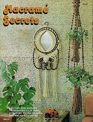 Macrame Secrets Vintage Book with Wall Hanging & Door Curtain Patterns RARE