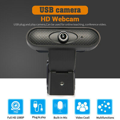 Full HD Webcam 1080P Camera With Microphone Wide Angle Webcams Streaming USB Web