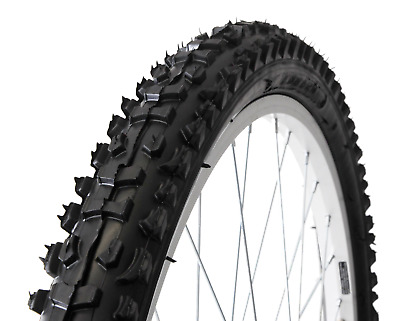 """26"""" x 2.10"""" Mountain Bike Bicycle Replacement Tyre Knobbly Off-Road Tread Black"""