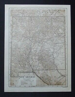Vintage Map: New Mexico, United States, by Emery Walker, 1926, Bi-colour