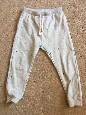 Zara baby girls age 3-4 grey spotted tracksuit bottoms joggers