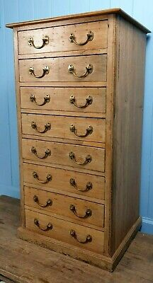 Chest Of Drawers Victorian Oak Pine 1850 Antique Made Scotland Printers Printing