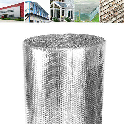 Silver Bubble Foil Insulation Roll Double Layer Aluminium Thermal for Loft Wall