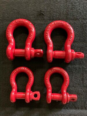 crosby shackle set of 3/4 & 5/8 (All 4)