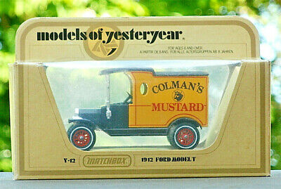 Matchbox Models Of Yesteryear Code 3 Colour Trial 1912 Ford Model T Colman's