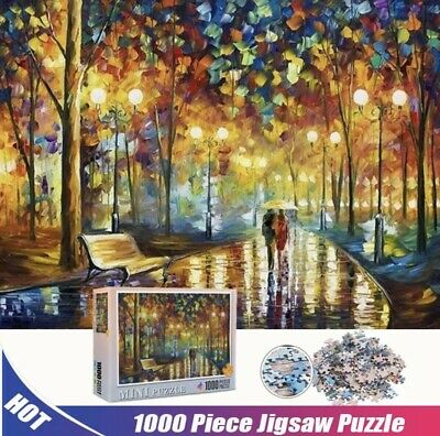 Rainy Night Walk Jigsaw Puzzle 1000 pieces Fast Shipping Game Toys Art Colorful
