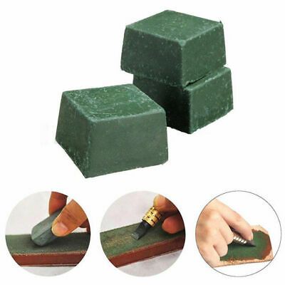 3 X Green Leather Strop Sharpening Compound Stropping  Honing Leathercraft Tools
