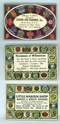 3 Vintage 1940s-50's Advertising Hand Mirrors - Fitzsimmons Of Williamstown