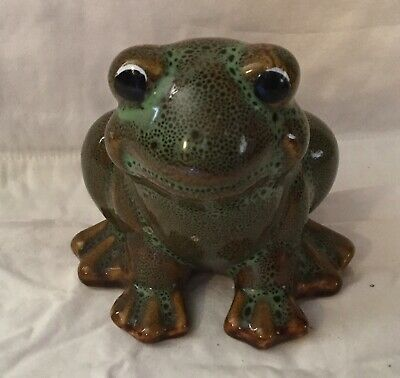 Vintage Yard Frog Hermitage Pottery Oxford Products Green 1999