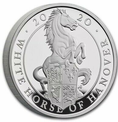 2020 Queen's Beast Collection The White Horse Of Hanover 1 oz Silver Proof Coin