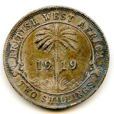 British West Africa 2 Shillings 1919-H   lotmay6129