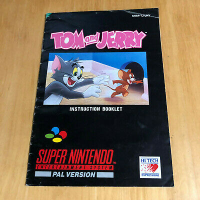 Super Nintendo SNES Manual Only - Tom and Jerry