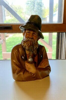 Vintage ANTON FISCHER carved wood FIGURE OBERAMMERGAU BLACK FOREST Bavarian